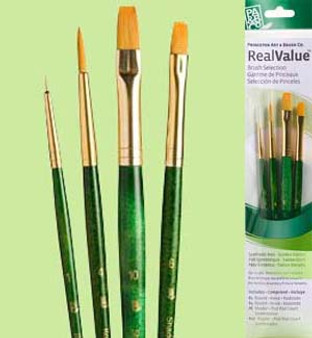 Princeton RealValue Brush Pack Gold Taklon Shader 3pk