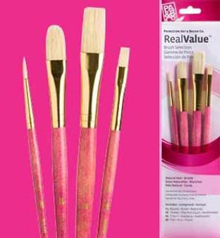 Princeton RealValue Brush Pack Bristle 4pk