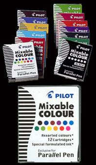 Pilot Parallel Pen Cartridge 6pk Black