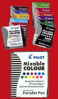 Pilot Parallel Pen Cartridge 6pk Red
