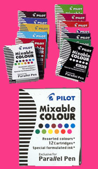 Pilot Parallel Pen Cartridge 6pk Pink
