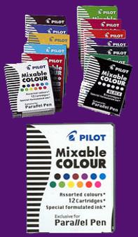 Pilot Parallel Pen Cartridge 6pk Violet