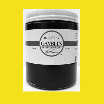 Gamblin Oil Relief Print Ink 175ml Hansa Yellow Light