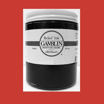 Gamblin Oil Relief Print Ink 175ml Napthol Scarlet