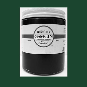 Gamblin Oil Relief Print Ink 175ml Phthalo Green