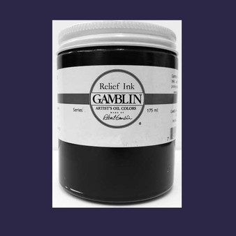 Gamblin Oil Relief Print Ink 175ml Prussian Blue