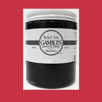 Gamblin Oil Relief Print Ink 175ml Quinacridone Red