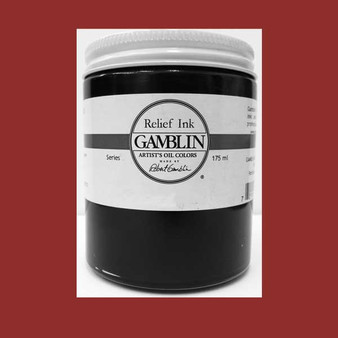 Gamblin Oil Relief Print Ink 175ml Sepia