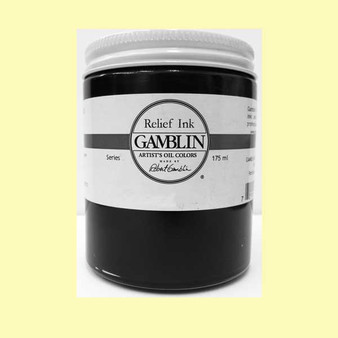 Gamblin Oil Relief Print Ink 175ml Transparent Base