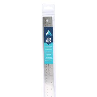 Art Alternatives Flexible Stainless Steel Ruler 24-Inch