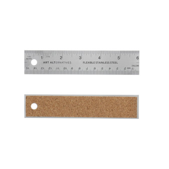 Flexible Stainless Steel Ruler 6-Inch