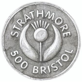 "Strathmore 500 Series Bristol Vellum 3 ply 23x29"" Sheet"