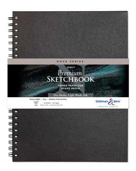 Stillman & Birn Nova Series Wirebound 9x12 Grey