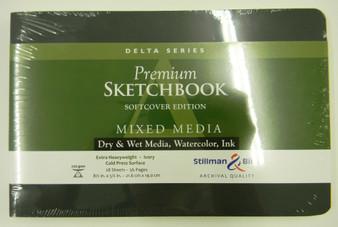 Stillman & Birn Softcover Sketchbook Delta Series 270g 8.5x5.5 Landscape