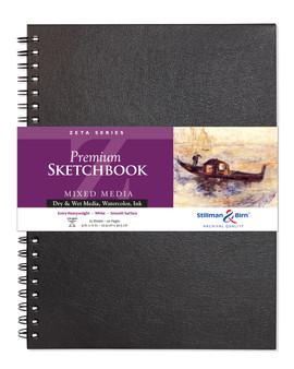 Stillman & Birn Zeta Wire Sketchbook 180lb 9x12