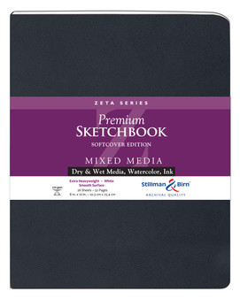 Stillman & Birn Softcover Sketchbook Zeta Series 180lb 8x10