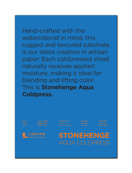 Stonehenge Aqua 140lb Watercolor Paper Cold Press Block 10x14