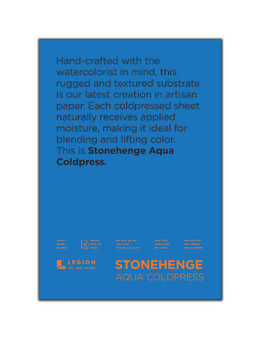 Stonehenge Aqua 140lb Watercolor Paper Cold Press Block 7x10