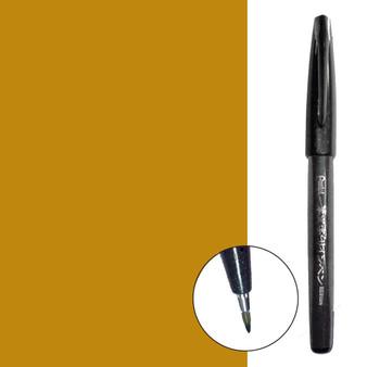 Pentel Sign Pen Brush Tip Ochre