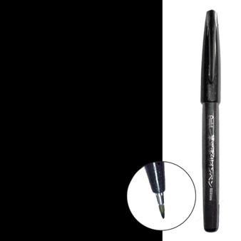 Pentel Sign Pen Brush Tip Black
