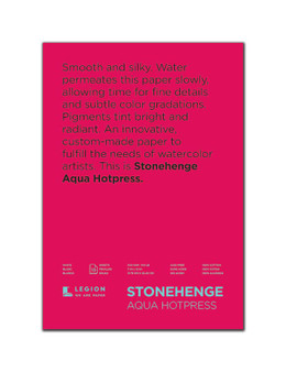 Stonehenge Aqua 140lb Watercolor Paper Hot Press Block 7x10