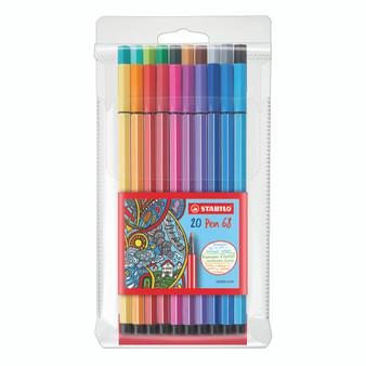 Stabilo Pen 68 Marker Wallet Set of 20 Colors