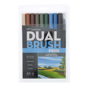 Tombow Dual Brush Marker 10 Set Landscape