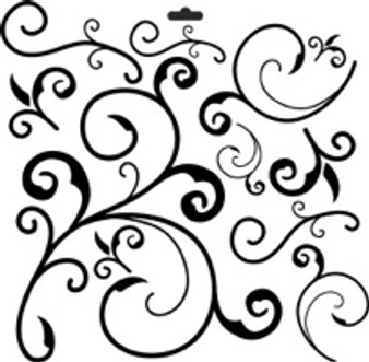 """The Crafter's Workshop Stencil Template 6x6"""" Capricious"""