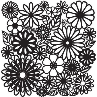 """The Crafter's Workshop Stencil Template 6x6"""" Flower Frenzy"""