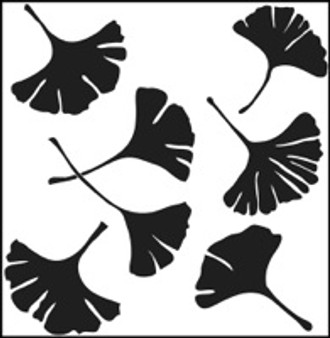 "The Crafter's Workshop Stencil Template 6x6"" Gingko"