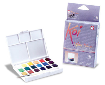 Sakura Koi Pocket Watercolor paint set of 18