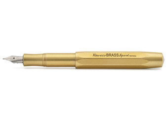 Kaweco Brass Sport Fountain Pen Medium Nib