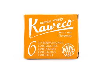 Kaweco Fountain Pen Ink Cartridge Pack of 6 Sunrise Orange