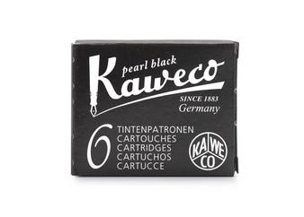 Kaweco Fountain Pen Ink Cartridge Pack of 6 Pearl Black