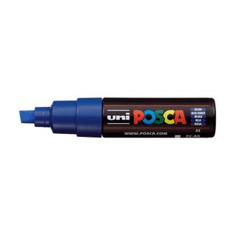POSCA Acrylic Paint Marker PC-8K Broad Chisel Blue