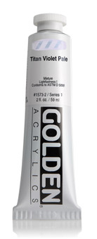 Golden Acrylic Heavy Body 2oz Titan Violet Pale