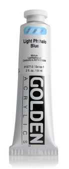 Golden Acrylic Heavy Body 2oz Light Phthalo Blue