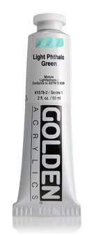 Golden Acrylic Heavy Body 2oz Light Phthalo Green