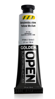 Golden OPEN Acrylic 2oz Benzimidazolone Yellow Medium
