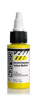 Golden Acrylic High Flow 1oz Benzimidazolone Yellow Medium