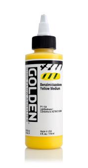 Golden Acrylic High Flow 4oz Benzimidazolone Yellow Medium