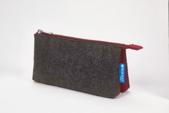 Itoya Midtown Pouch 4x7 Charcoal/Maroon