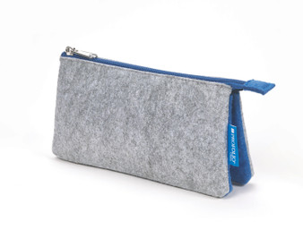 Itoya Midtown Pouch 4x7 Gray/Blue
