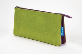 Itoya Midtown Pouch 5x9 Green/Purple