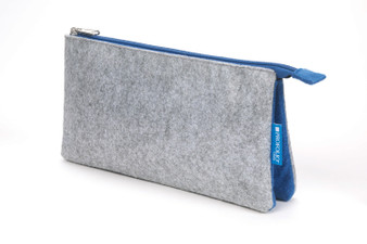 Itoya Midtown Pouch 5x9 Grey/Blue
