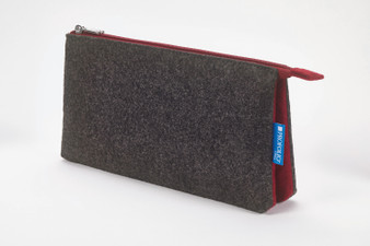 Itoya Midtown Pouch 5x9 Charcoal/Maroon