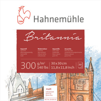 Hahnemuhle Britannia Block Cold Press 12x12 300gsm