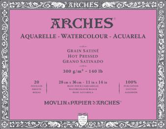 Arches Watercolor Block 140lb Hot Press 11x14