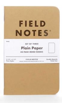 "Field Notes Original Kraft Plain 3 Pack of 3.5x5.5"" Memo Books"