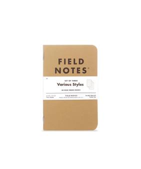 "Field Notes Original Kraft Mixed 3 Pack of 3.5x5.5"" Memo Books"